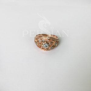 Золотое кольцо со скай топазами «Весенняя Рапсодия»