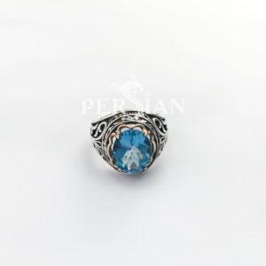 Серебряное кольцо «Дамский Каприз» со свисс топазом