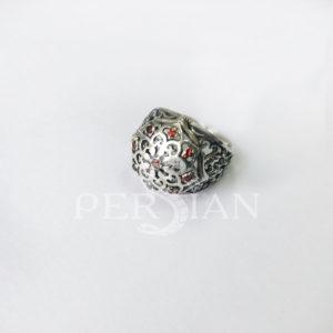 Кольцо серебряное «Арабская ночь» с гранатами
