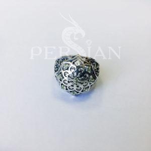 Кольцо серебряное «Арабская ночь» с хризолитами