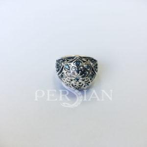 Кольцо серебряное «Арабская ночь» с лондон топазами