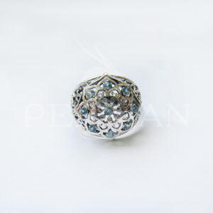 Кольцо серебряное «Арабская ночь» со скай топазами