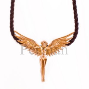 Подвеска золотая «Крылатый Ангел»