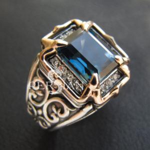 Серебряная женская печатка «Lirrdar» с лондон топазом