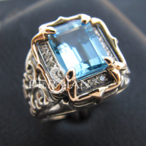 Серебряная женская печатка «Lirrdar» со свисс топазом