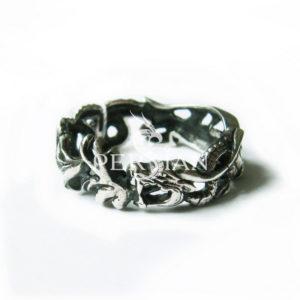 Серебряное кольцо «Властелин Драконов»