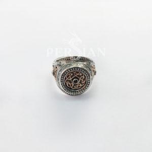 Серебряный перстень «Всевластный Спаси и Сохрани» с гранатом