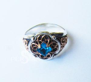 Серебряное кольцо Ажурное с топазом