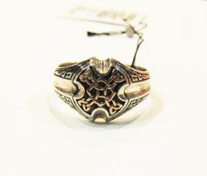 Серебряная печатка с кельтскими узорами