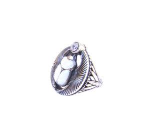 Серебряный перстень Скарабей